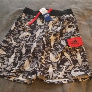 Brand new adidas swimming trunks boys  14